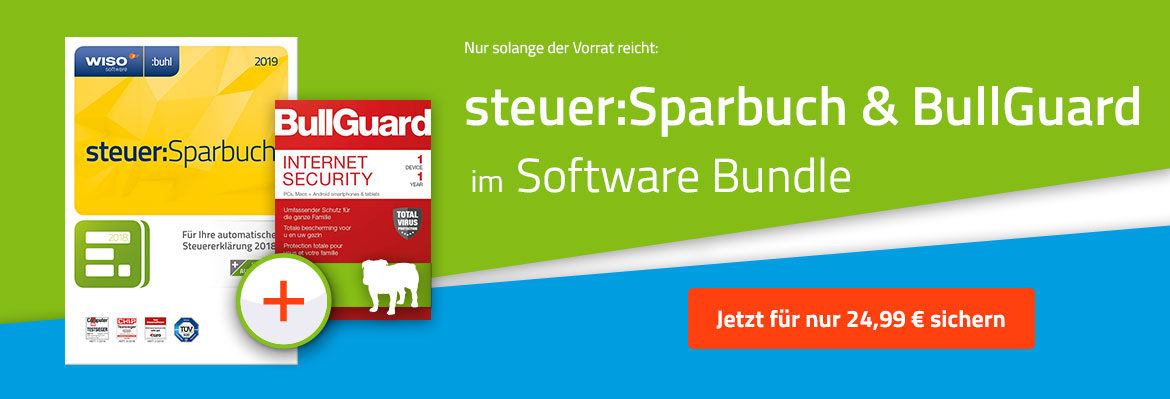 WISO steuer:Sparbuch 2019 inkl. BullGuard Internet Security 2019