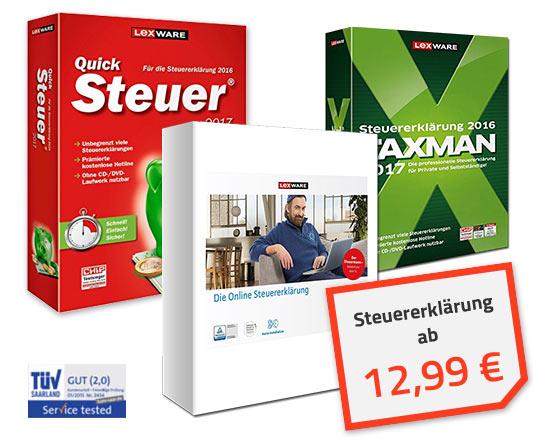 Lexware Steuersoftware vergleichen