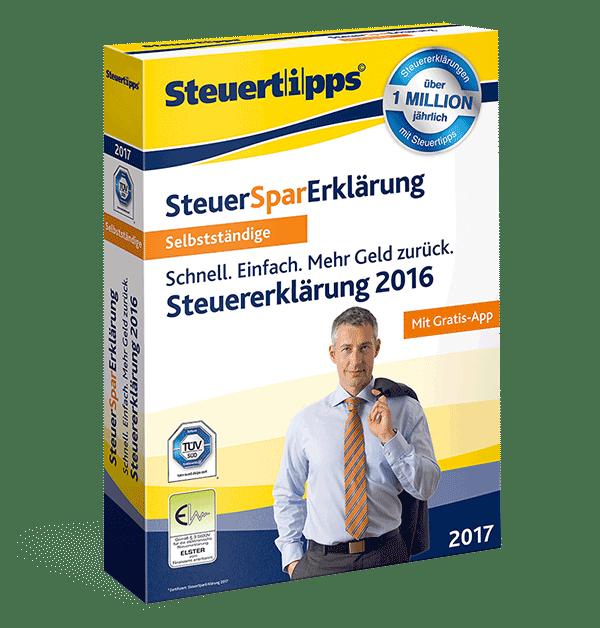 SteuerSparErklärung für Selbstständige 2017