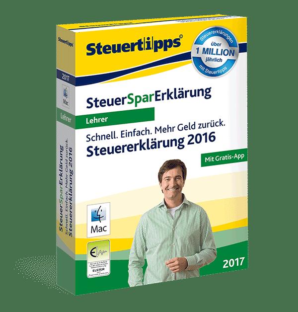 SteuerSparErklärung Lehrer 2017
