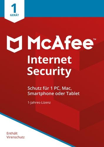 McAfee Internet Security 1 Gerät / 12 Monate Laufzeit Download kaufen
