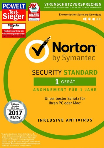 Platz 3 im Internet Security Vergleich Symantec Norton Security 3.0