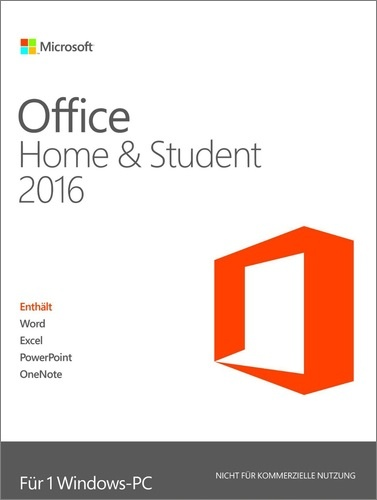 Testsieger im Office Programme Vergleich: Microsoft Office Home & Student 2016