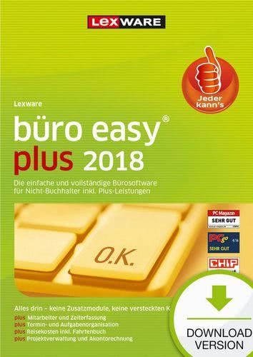 Platz 4 im Buchhaltungssoftware Vergleich: Lexware büro easy plus 2018