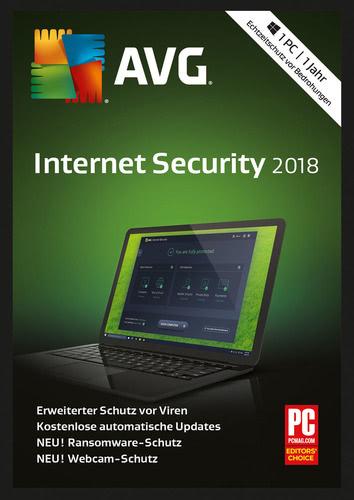Platz 5 im Internet Security Vergleich AVG Internet Security 2018