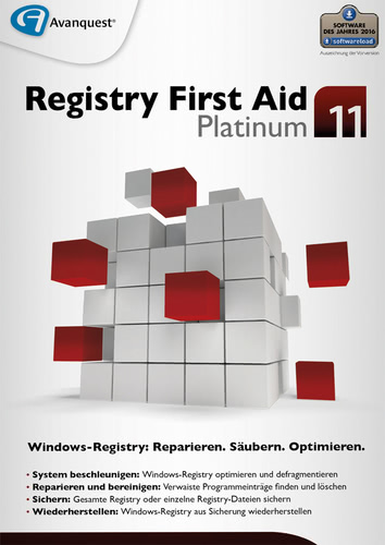 Avanquest Registry First Aid 11 Platinum