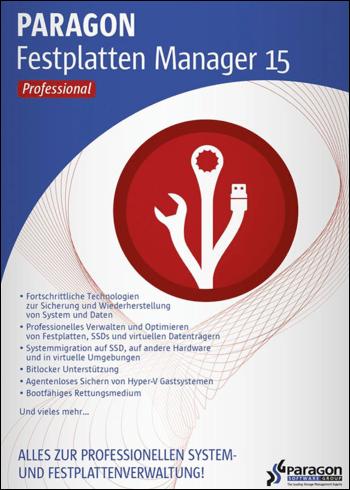 Paragon Festplatten Manager 15 Professional