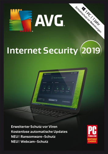 Platz 5 im Internet Security Vergleich AVG Internet Security 2019