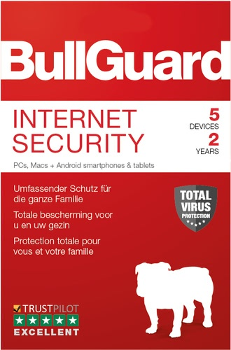 BullGuard Internet Security 2019 5 Geräte 24 Monate