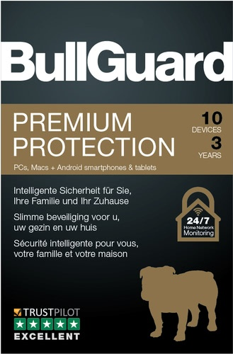 BullGuard Premium Protection 2019 10 Geräte / 36 Monate