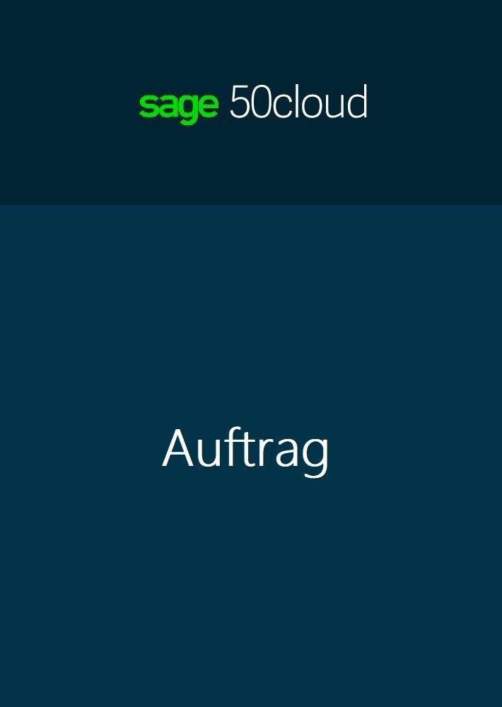 Sage 50 Cloud Auftrag