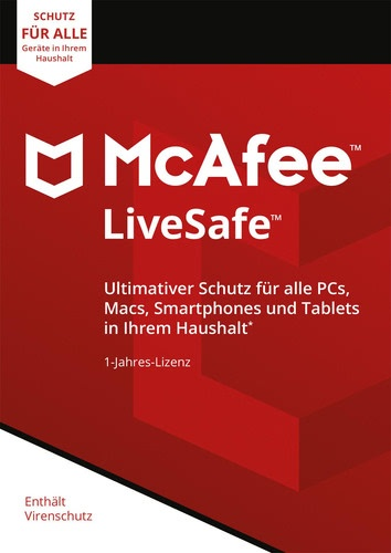 McAfee LiveSafe Unlimited Devices / 12 Monate Laufzeit