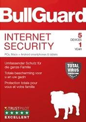 BullGuard Internet Security (5 Geräte / 1 Jahr)