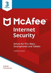 Platz 5: McAfee Internet Security (3 Geräte / 1 Jahr) Download