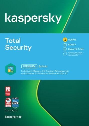 Kaspersky Total Security 2021 - 3 Geräte / 1 Jahr Download kaufen